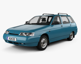 3D model of VAZ Lada 2111 wagon 1995