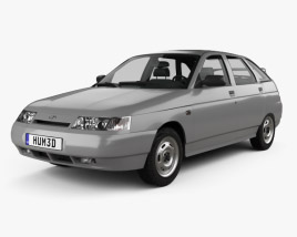 3D model of VAZ Lada 2112 hatchback 1995