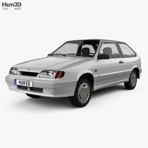 VAZ Lada Samara (2113) hatchback 3-door 1997 3D model