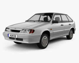 VAZ Lada Samara (2114) hatchback 5-door 1997 3D model