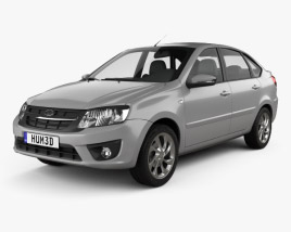 3D model of Lada Granta liftback 2014