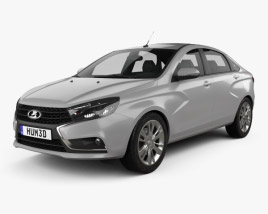 3D model of VAZ Lada Vesta (GFL) 2015