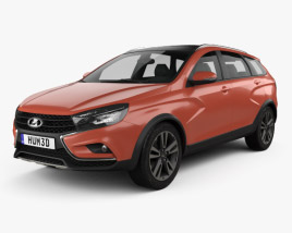 3D model of VAZ Lada Vesta Cross 2015