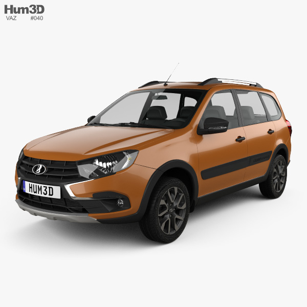 3D model of VAZ Lada Granta Cross 2019
