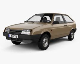 3D model of VAZ Lada 2108 1984