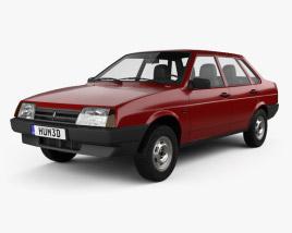 3D model of VAZ Lada 21099 1990