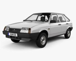 3D model of VAZ Lada 2109 1987