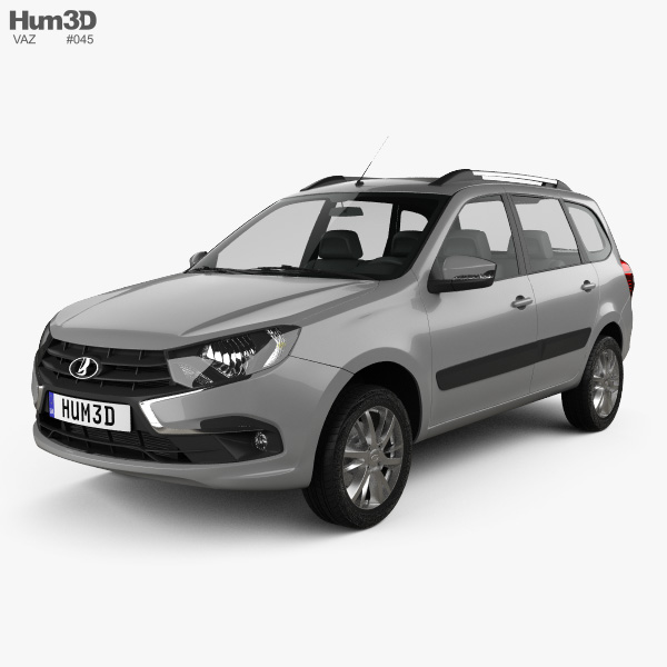 3D model of VAZ Lada Granta wagon 2018