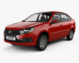 3D model of VAZ Lada Granta liftback 2018