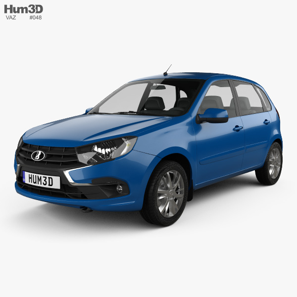 3D model of VAZ Lada Granta hatchback 2018