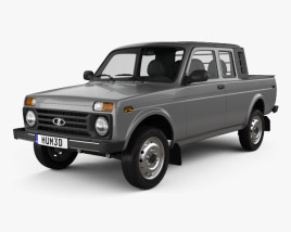3D model of VAZ Lada Niva 4×4 2329 Pickup 2015