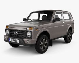 3D model of VAZ Lada Niva 4×4 (21214-57) Urban 2019