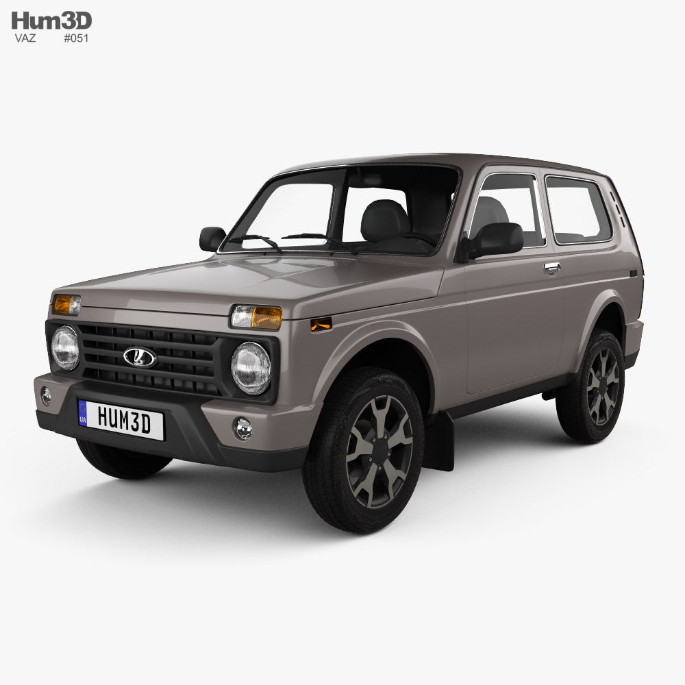 VAZ Lada Niva 4x4 (21214-57) Urban 2019 3D model