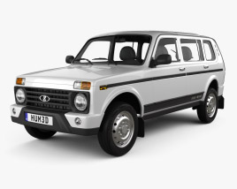 3D model of VAZ Lada Niva 4x4 (2131) Urban 2020