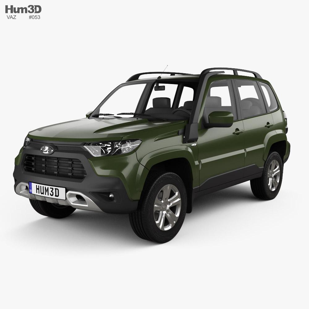 VAZ Lada Niva Travel 2021 3d model