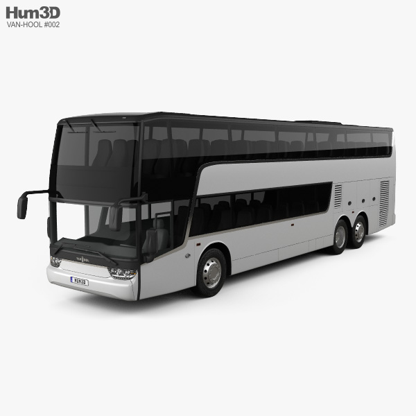 3D model of Van Hool TDX Bus 2018