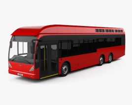 3D model of Van Hool A330 Hydrogen Fuel Cell Bus 2012