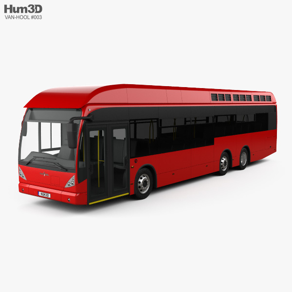 3D model of Van Hool A330 Hydrogen Fuel Cell Bus 2012