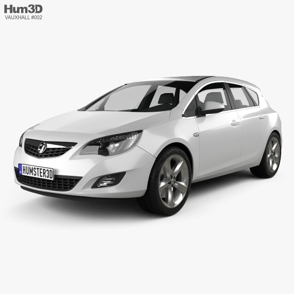 3D model of Vauxhall Astra Hatchback 5-door 2011