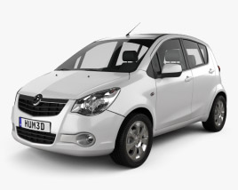 3D model of Vauxhall Agila 2008