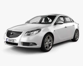 3D model of Vauxhall Insignia Sedan 2009