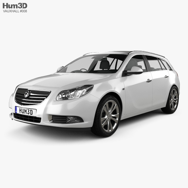 3D model of Vauxhall Insignia Sports Tourer 2010