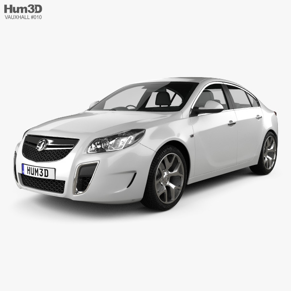 3D model of Vauxhall Insignia VXR hatchback 2012