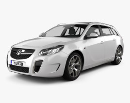 3D model of Vauxhall Insignia VXR Sports Tourer 2012