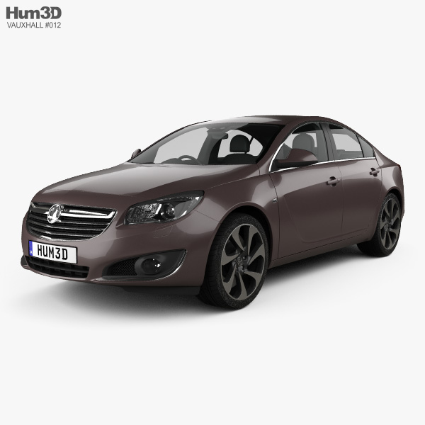 3D model of Vauxhall Insignia sedan 2012
