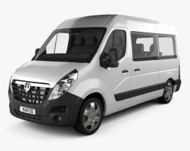 3D model of Vauxhall Movano Passenger Van 2010