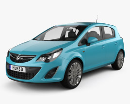 Vauxhall Corsa (D) 5-door 2010 3D model