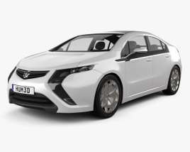 3D model of Vauxhall Ampera 2012
