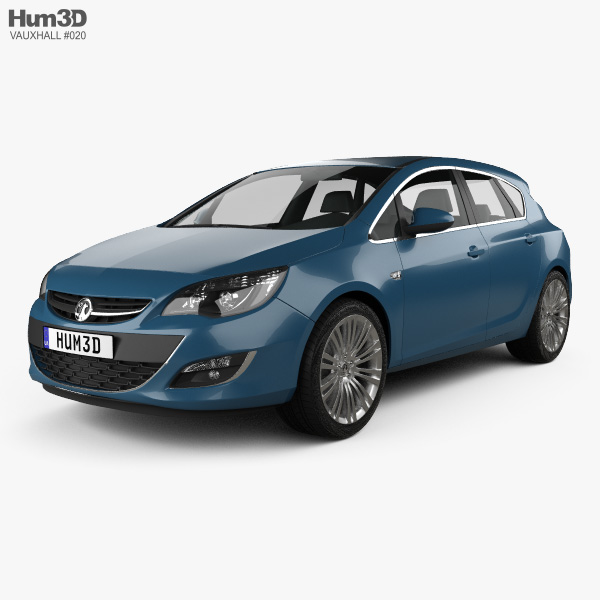 3D model of Vauxhall Astra 5-door hatchback 2012