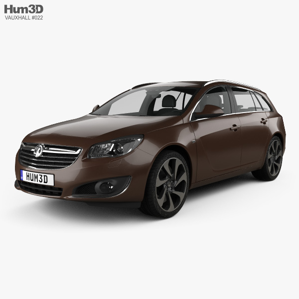 3D model of Vauxhall Insignia Sports Tourer 2013