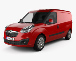 3D model of Vauxhall Combo Panel Van L2H1 2012