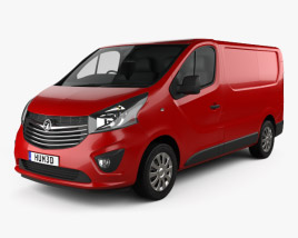 3D model of Vauxhall Vivaro Panel Van L1H1 2014