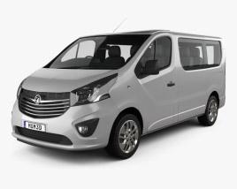 3D model of Vauxhall Vivaro Passenger Van L1H1 2014