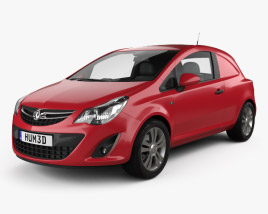 3D model of Vauxhall Corsa (D) Van 2010