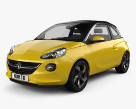 3D model of Vauxhall Adam 2013