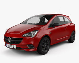 3D model of Vauxhall Corsa (E) 3-door 2014