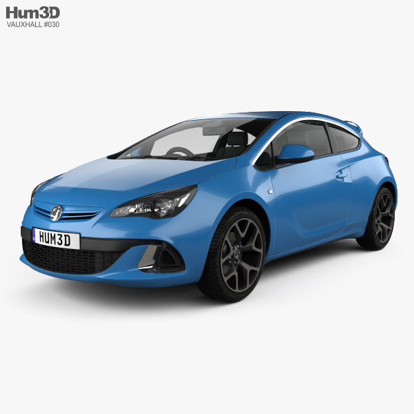 3D model of Vauxhall Astra VXR 2012