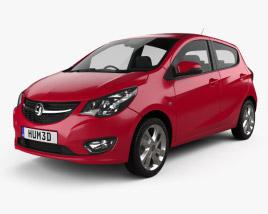 3D model of Vauxhall Viva 2015