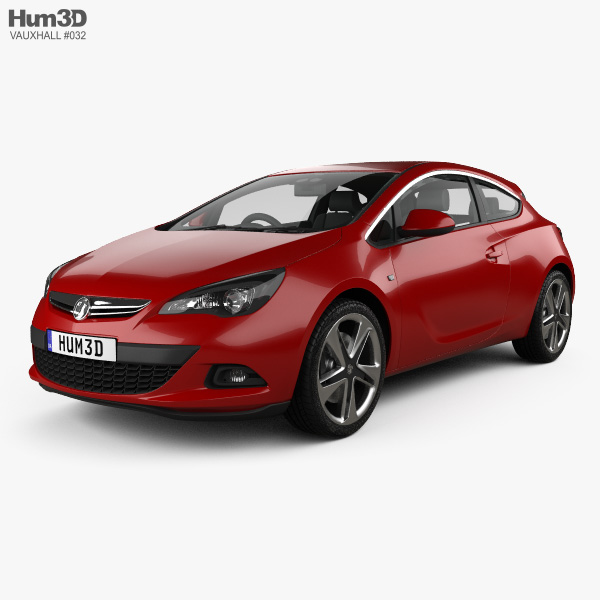 3D model of Vauxhall Astra GTC 2011