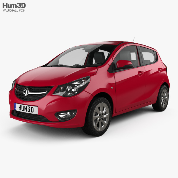 3D model of Vauxhall Viva SL with HQ interior 2015