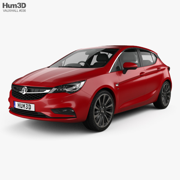 3D model of Vauxhall Astra Turbo hatchback 2016
