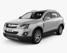 3D model of Vauxhall Antara 2011