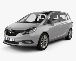 3D model of Vauxhall Zafira (C) Tourer 2016
