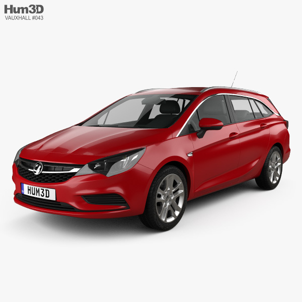 3D model of Vauxhall Astra (K) Sports Tourer Design 2016