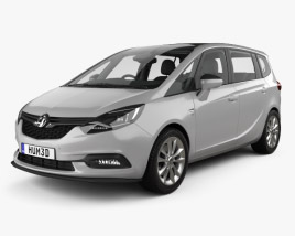 3D model of Vauxhall Zafira (C) Tourer with HQ interior 2016