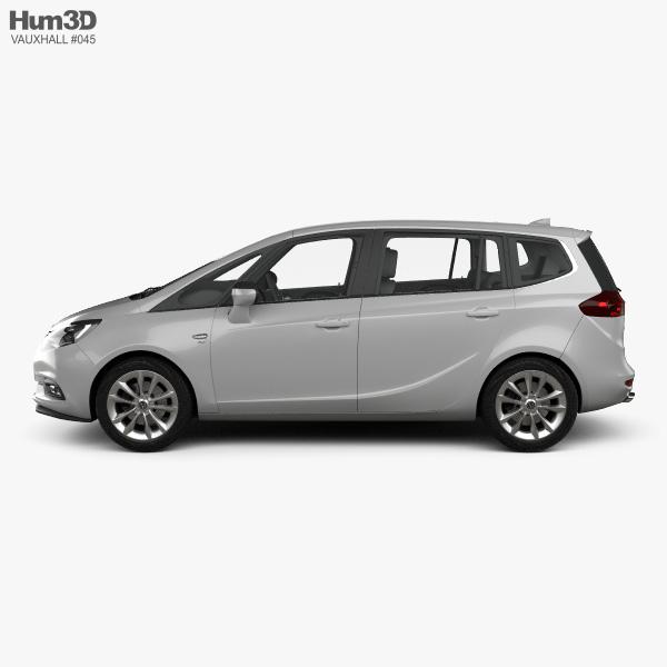 Vauxhall Zafira (C) Tourer with HQ interior 2016 3D model